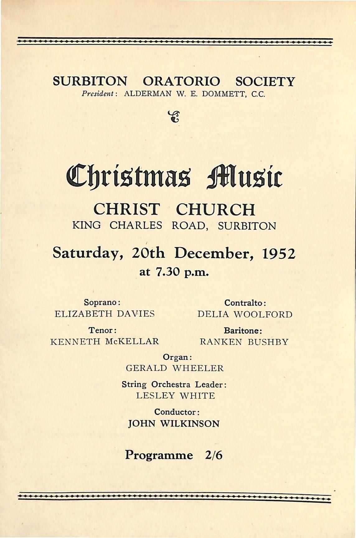 20 December 1952