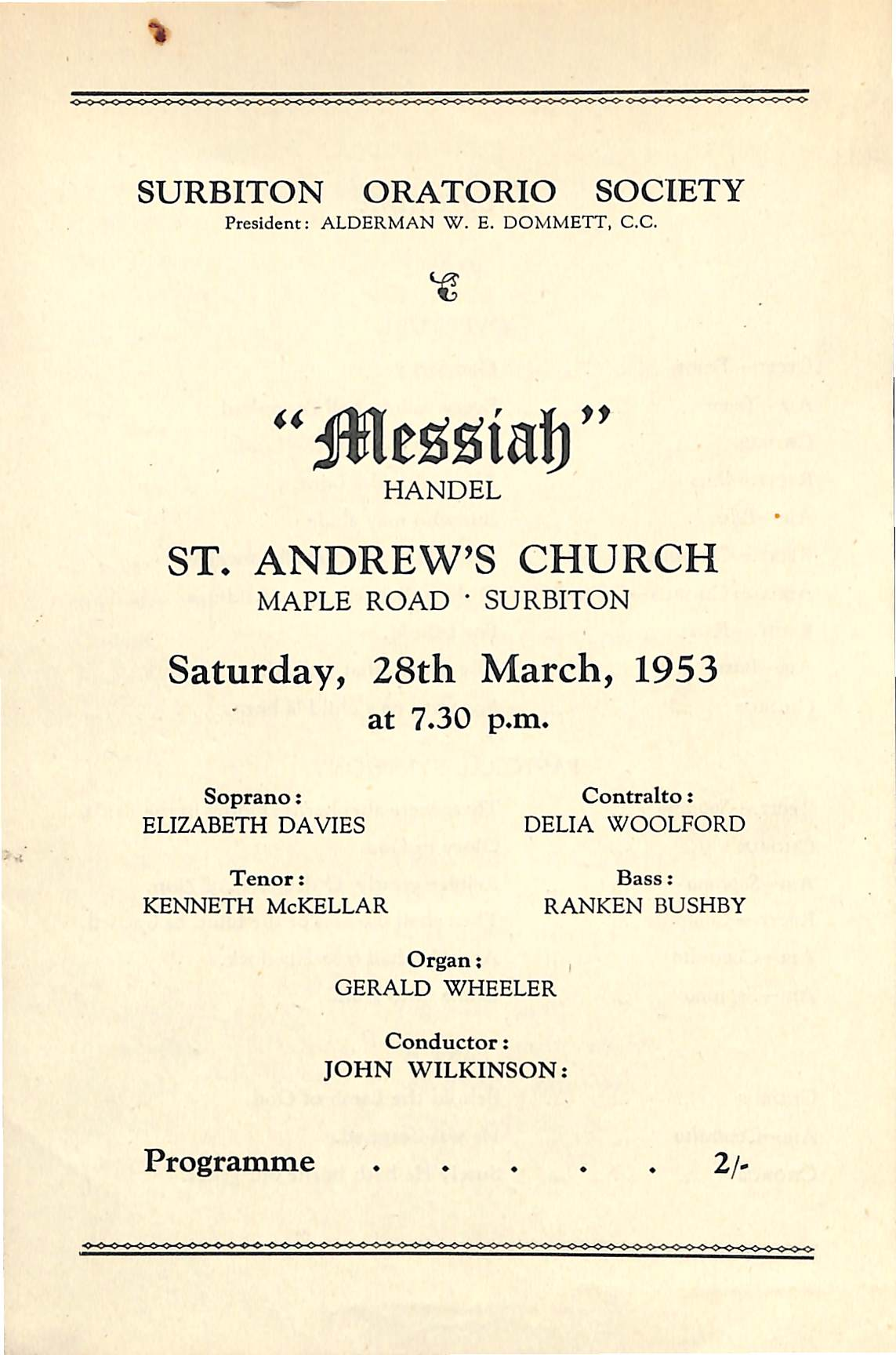 28 March 1953